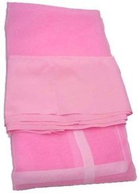 ANS Mosquito Nets 6x6.25 ft Double Bed Pink With Border