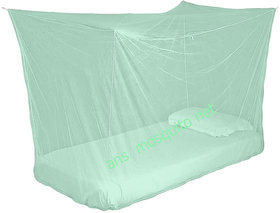 ans mosquito net 3x6 ft single bed green