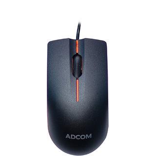 Adcom AD-12526 USB Wired Optical Mouse (Black/Orange)