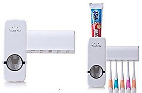 Colonial tooth paste dispenser + free tooth brush holder