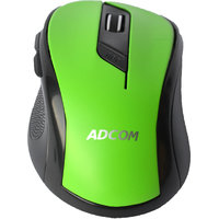 Adcom AD-6516W Wireless Mouse Portable Mobile Optical Mouse with USB Receiver.