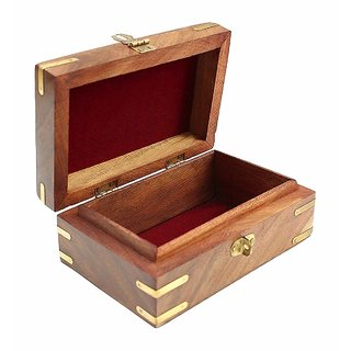 CraftShoppee Decorative  Wooden Jewellery Box for Women Jewel Organizer Hand Carved Carvings Gift Items