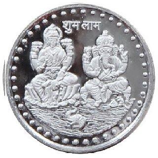 Laxmi Ganesh Silver Coin 10gm For
