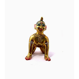 Astadhatu Bal Radha Idol/Baby Radha Brass Idol/Kishori Radha Rani Baby Idol- 20 cm Hight