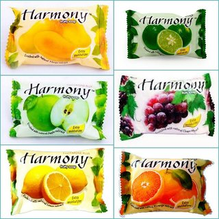 Harmony Fruity Soaps  Mix Pack of 6