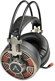 Adcom AD-1110 Over The Ear Headsets with Mic  LED USB Wired Gaming Headphone (Black)