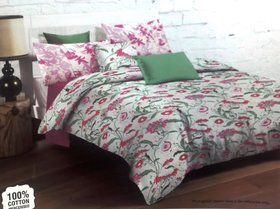 Lotus Classic Special Printed Double Bed Bed sheet with 2 Pillow Covers - (100 Cotton)
