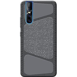 Cellmate Stylish Texture Pattern Protective TPU Soft Mobile Back Case Cover For Vivo V15 Pro - Black