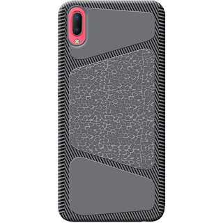 Cellmate Stylish Texture Pattern Protective TPU Soft Mobile Back Case Cover For Vivo Y93s - Black