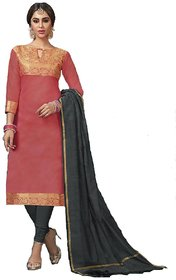 Polly Trends Women's Banarasi Silk Churidar Material with inner| Salwar Suit | Salwar Kameez Unstitched Banarasi Dress Material