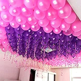 HD Metallic Balloons for Birthday / Anniversary Party Decoration (Pink, Purple) Pack of 50