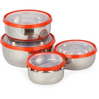 PNP Fresca Lid Bowl Set 4 with Transparant Lid