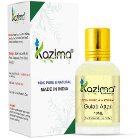KAZIMA Gulab Attar Perfume For Unisex (10ML) - Pure Natural Undiluted (Non-Alcoholic)