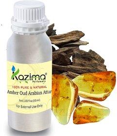 KAZIMA Amber Oud Arabian Attar Perfume For Unisex (30ML) - Pure Natural Undiluted (Non-Alcoholic)