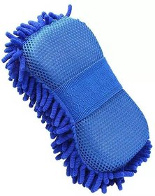 De-Ultimate Multipurpose Microfiber Glove Mitt With Soft Sponge Wet and Dry Glove  (Free Size)