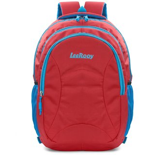 LeeRooy canvas red 30ltr classic bag for boys and girls