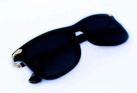 Adrian Unisex UV Protected Black Sunglasses for Men and Women