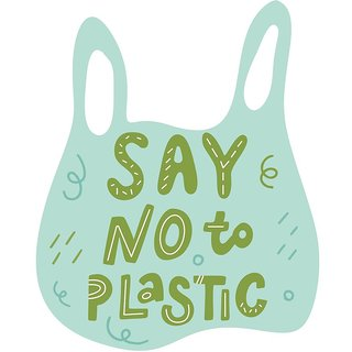 say no to plastic  sticker poster save environment NO plastic save earth size:12x18 inch multicolor