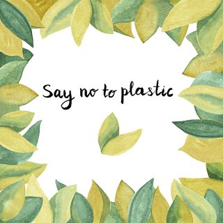 say no to plastic  sticker postersize:12x18 inch|multicolor |Sticker Paper Poster, 12x18 Inch