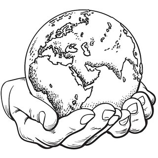 hands on earth   sticker postersize:12x18 inch|multicolor |Sticker Paper Poster, 12x18 Inch