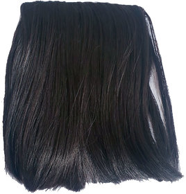 GadinFashion Front Hair Wig, Hair Fringes for Women, Front Hair Extensions, Color-Natural Brown Pack Of 01