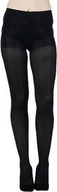 N2S NEXT2SKIN Women's Opaque Designer Pantyhose/Stocking (Black) (One Size - Fit S to L)
