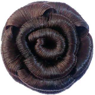 GadinFashion Hair Extension Juda For Girls And Women Artificial Juda  Bun Natural Brown Pack Of 01