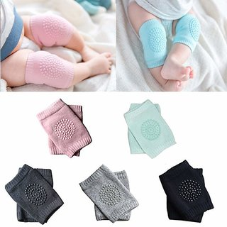 REGAL Baby Knee Pads for Crawling, Anti-Slip Padded Stretchable Elastic Cotton Soft