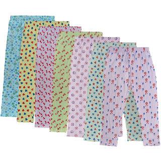 IndiWeaves Girls Combo Pack Of Cotton Printed Capri (Pack Of 7)