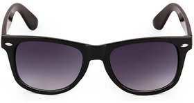 Ivy Vacker Grey UV Protected Wayfarer Men Black Full Rim Sunglasses