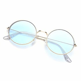 Ivy Vacker Blue Gradient RoundUV Protected Sunglass for Women's and Men's