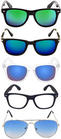 Ivy Vacker Combo of 5 Sunglasses for Men