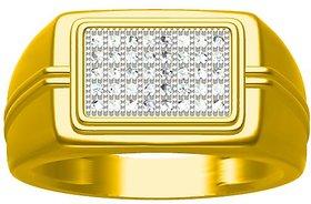 Sakshi Jewels 6.86 Gram 18K Gold 0.24 Carat VVS-FG Diamond Gents Ring.