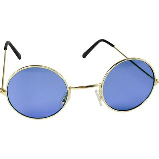 Ivy Vacker Blue Gradient Round UV Protected Round Sunglass (Unisex)