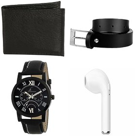 Watch With Rechargeable Bluetooth Earbud, Belt & Wallet