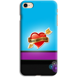 PrintVisa Just Married Love Couple Designer Printed Hard Back Case For iPhone 6s - Multicolor