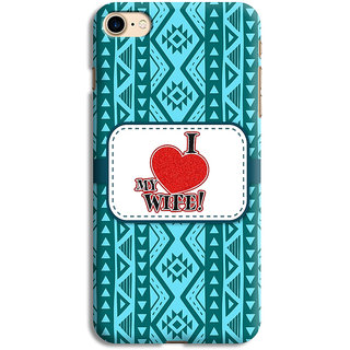 PrintVisa Multicolor Ethnic Design I Love Wife Designer Printed Hard Back Case For iPhone 6s - Multicolor