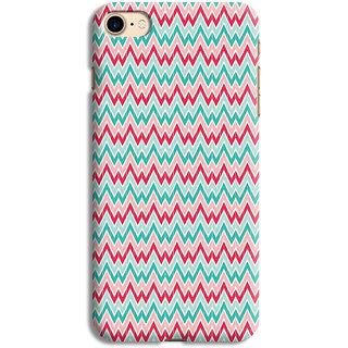 PrintVisa Multicolor Zigzag Pattern Designer Printed Hard Back Case For iPhone 6s - Multicolor