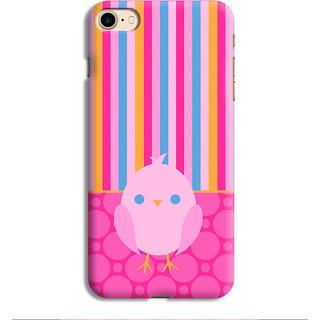 PrintVisa Bird Multicolor Multicolour Stripes Chidiya Mobile Cover Designer Printed Hard Back Case For iPhone 6s - Multicolor