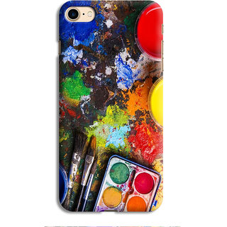 PrintVisa Paining Instruments Colorbox Colors Brush Designer Printed Hard Back Case For iPhone 6s - Multicolor
