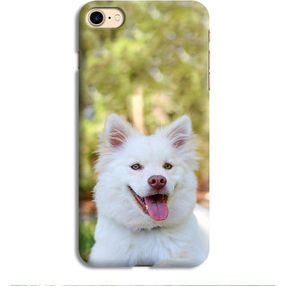 PrintVisa Cute White Dog Designer Printed Hard Back Case Cover For iPhone 6s - Multicolor