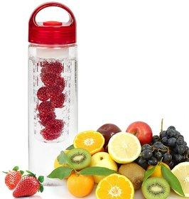 REGAL Fruit Infuser Water Bottle,Transparent Plastic,Detox Drink Juice Bottle (Color May