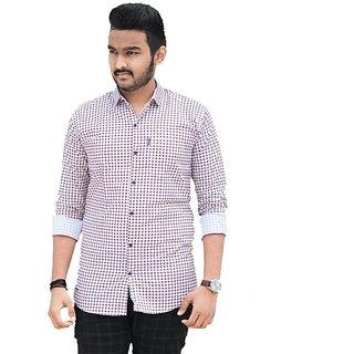 red lion cotton casual checks shirt for men