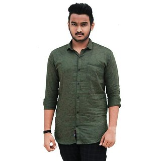 red lion cotton casual printed shirt for men