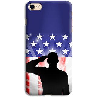 PrintVisa Saluting Man Art Person Designer Printed Hard Back Case For iPhone 7 - Multicolor