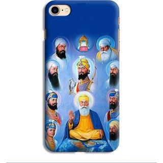 PrintVisa Sikh Sikhism Guru Image Designer Printed Hard Back Case For iPhone 7 - Multicolor