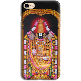 PrintVisa Tirupati Balaji God Designer Printed Hard Back Case For iPhone 7 - Multicolor