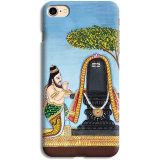 PrintVisa Mahadev Shivling Shankar God Designer Printed Hard Back Case For iPhone 7 - Multicolor