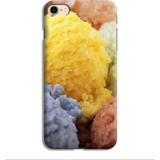 PrintVisa IceCream Happy Happiness Tasty Delicious Sweet Designer Printed Hard Back Case For iPhone 7 - Multicolor