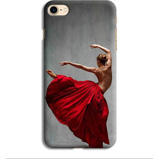PrintVisa Girl Dance Naach Gana Pose Mudra Designer Printed Hard Back Case For iPhone 7 - Multicolor
